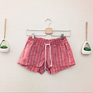 ROXY Stripped Drawstring Shorts